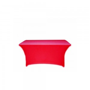 Stretch cover voor tafel rood