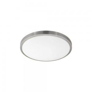 COMPETA 1 WAND/PLAFOND STAAL WIT/NICKEEL 24W LED
