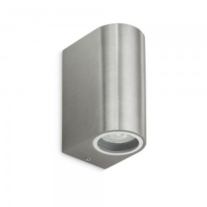 WANDLAMP UP/DOWN EXCL LAMP INOX