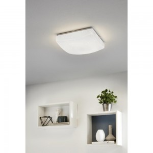 GIRON-S WAND/PLAFOND STAAL/WIT 11W LED