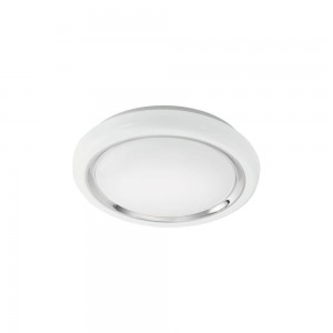 CAPASSO WAND/PLAFOND STAAL WIT/CHROOM 18W LED